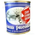 Консервы мясорастительные Каша рисовая с олениной 290 гр. ж/б
