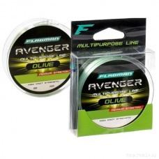 FLAGMAN Леска Avenger Olive Line 100м 0,30мм 9,1кг/20lb