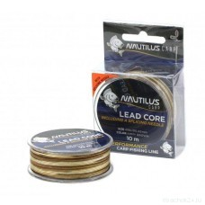 Лидкор Nautilus Supreme Lead Core 45lb 10м Army Brown