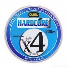Леска плетеная DUEL PE Hardcore X4  1.5 (0,209мм) 200м 10.0kg (Orange) (4жил) (H3244-O)